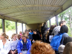 A train ride with a group of exchange students