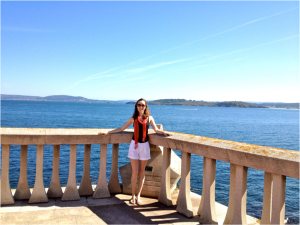 A picture at the A Coruña coast, a gorgeous view of the sea