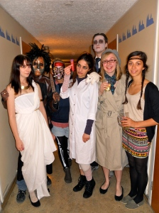 Some of my corridor-mates and I at our Halloween party, which we hosted