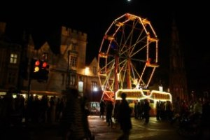 Ferris Wheel at the Oxford Christmas Light Ceremony, a big Oxford tradition