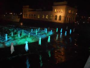 Light Installations at the Fyrisån River, part of the Uppsala Light Festival