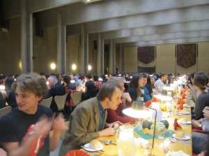 One big family to feed at the Oxford Thanksgiving celebration for students