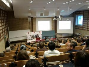 Lecture at Uppsala University by Prof. Roth, Economics Nobel Prize Laureate, who talked about Game Theory