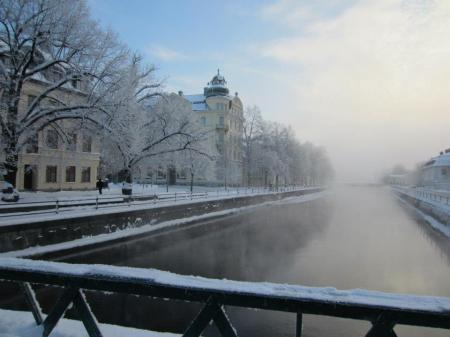 A scene of winter in Uppsala