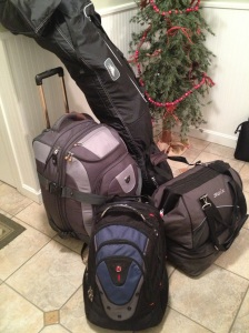 My packed bags.  I give the international students who can travel with less so much credit!   It was so difficult to pack for the semester!