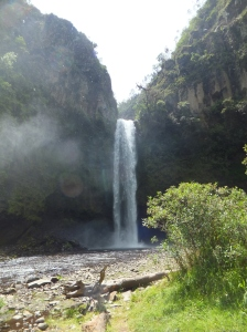 The GIANT Cascada Molinuco (waterfall); it was so powerful I could feel the mist from where I was standing!