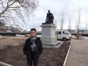 Statue of Jean Jacques Rousseau in Geneva!, because this is his birthplace