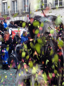 There were many creatures like this who also joined in throwing confetti throughout the parade
