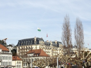 Beautiful buildings here in the heart of Lausanne!