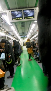 Subway in Seoul (on our way to the immigration office) to apply for our alien card