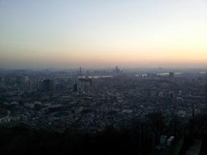 Sunset over Seoul from the N Seoul Tower