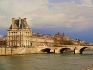 Right in the heart of the city, Paris, with the Louvre and the river Seine in sight