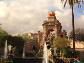 One of my famous images of the city, the fountains in this park were absolutely gorgeous!