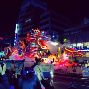 Dragon at Buddha birthday