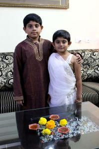Binnu and Quiny Diwali