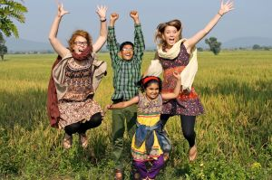 Jennie Sanskar Isha rice field jumping