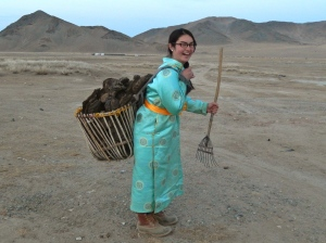 Me with a full dung basket