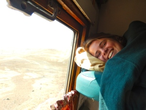My friend Mara on the train.
