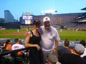 Baltimore Orioles game with my father