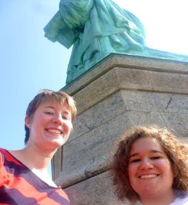 Statue of Liberty with my UR roommate as part of my mini-American tour