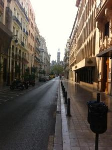 A typical narrow street in Valencia