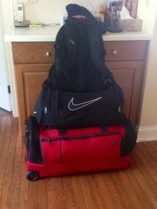 My bags are packed and ready to go