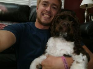 One of the hardest parts about leaving has been saying goodbye to my dog, Louie. Oh yea, and my parents and sister, too