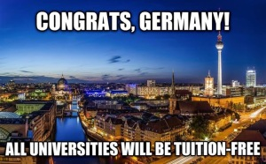 ​A viral photo on Facebook after the announcement that German university will be tuition free.