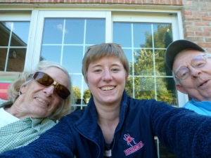 ​A picture with my grandparents right before I left for Freiburg at their home in Lititz, Pennsylvania.