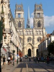 The beautiful Basilique Cathédrale Sainte-Croix d'Orléans.