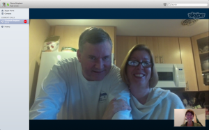 ​My parents and I on Skype call.