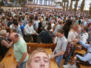 A few thousand of my friends and I at Oktoberfest.