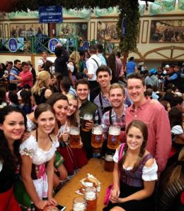 With friends at Oktoberfest