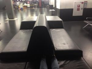 A couch I found in the Vienna airport that I caught some sleep on.