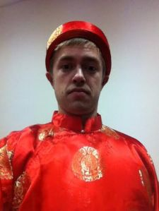 Trying on some traditional Vietnamese garb in Prague. Wait what? I'll elaborate on this in my next post.