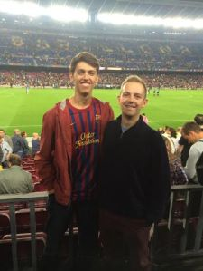 Tom and I at Camp Nou!