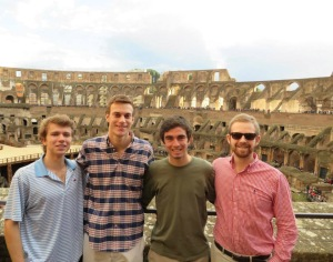 Oliver and friends in Colosseo