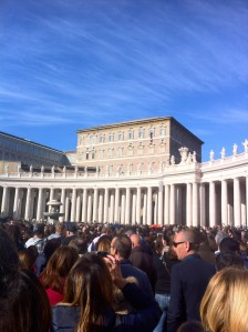 St Peter's square and Pope