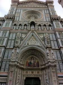 The face of the Duomo