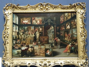 Art cabinet with Anthony van Dyck's 'Mystic Marriage of St. Catherine'. The details in this were amazing.