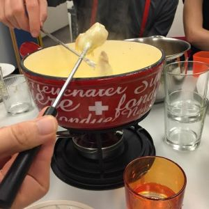 I ate my weight in fondue, like a real Swiss