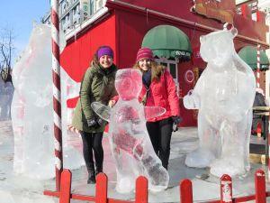 Zhongyang pedestrian street ice sculptures
