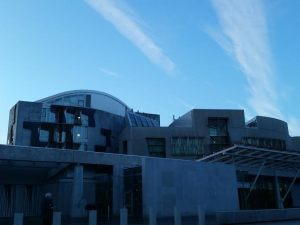 The new Parliament building, usually referred to as Holyrood