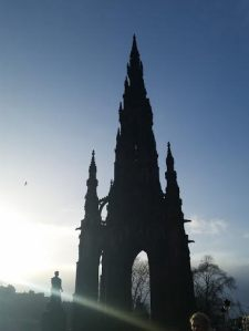 Scotts Momument in the heart of Princes Street, dedicated to Sir Walter Scott.