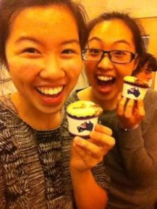 My Asian-Australian friend Jackie and I celebrating our (semi) successful nutella cupakes!