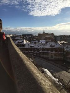 This is a picture from the highest point of Lausanne overlooking the entire city!