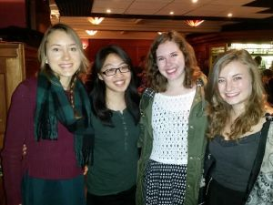 Tess, Kara, me, and Meghan at Burns Night