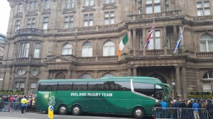 Irish Rugby Team Sighting on Princes Street