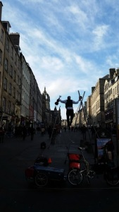 Street performance on the Royal Mile
