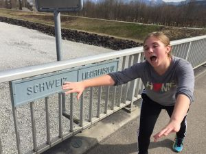 Finally reaching the boarder of Liechtenstein and Switzerland.